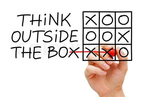Think Out The Box sketching think outside the box tic tac toe