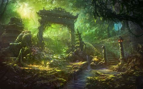 wallpaper hd anime landscape free anime fantasy landscape wallpaper phone as wallpaper