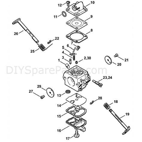stihl chainsaw carburetor diagram stihl ms 170 chainsaw ms170c ed parts diagram