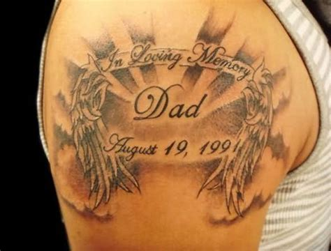 rip dad tattoos 59 realistic rip shoulder tattoos