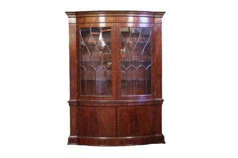 china cabinet display case high end bow front china cabinet hutch mahogany display