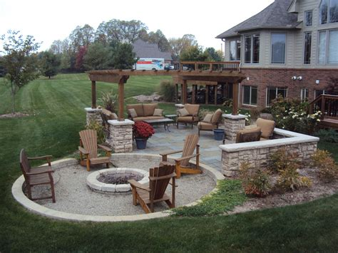 in ground fire pit ideas patio contemporary with backyard