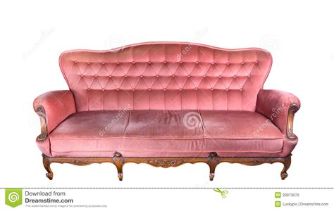 vintage pink sofa vintage pink sofa stock photo image 20973070