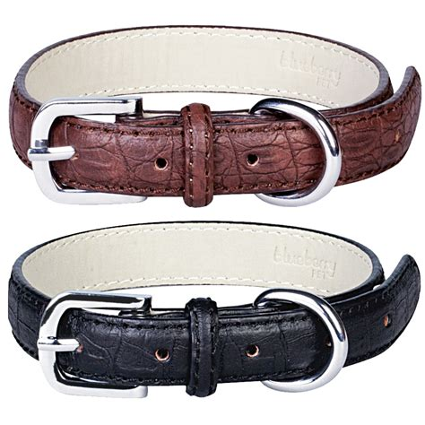 blueberry for dogs blueberry pet collars for dogs faux crocodile leather collar medium ebay