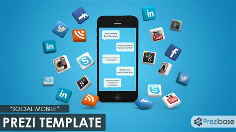 social mobile prezi template prezibase