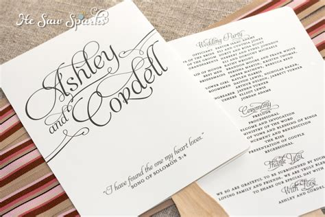 fan template for wedding program matching paddle fan program diy printable by hesawsparks