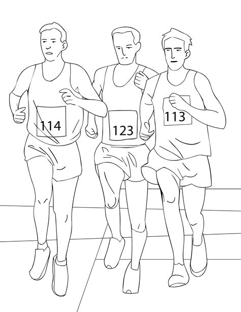 running printable coloring pages
