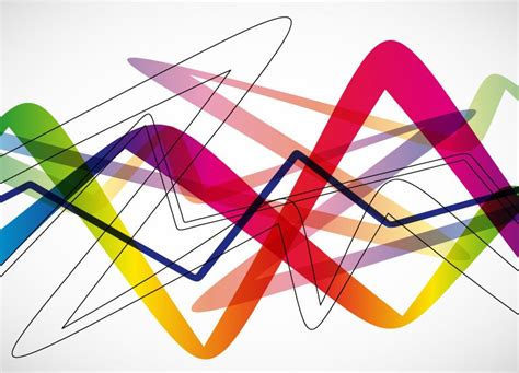 vector illustration layout abstract colorful wave background vector illustration