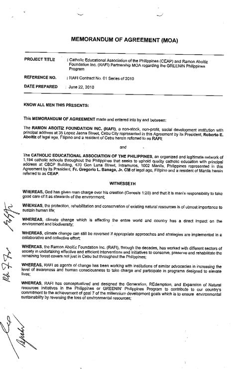 Template Memorandum Of Agreement memorandum of understanding template 28 images