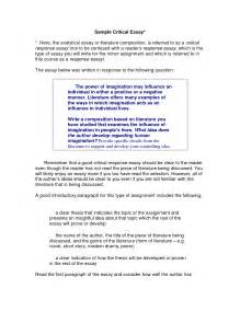 Critical Writing Essay Exle by Writing A Critical Essay Drugerreport732 Web Fc2