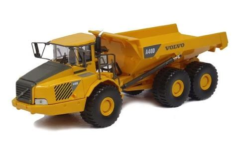 volvo ad articulated hauler dump  die cast cararama construction toy truck ebay
