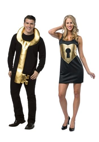 lock  key couples costume