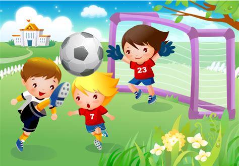 imagenes niños jugando futbol ni 241 os jugando futbol vector gratis