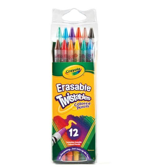 twistables colored pencils crayola 174 12 ct erasable twistables colored pencils jo