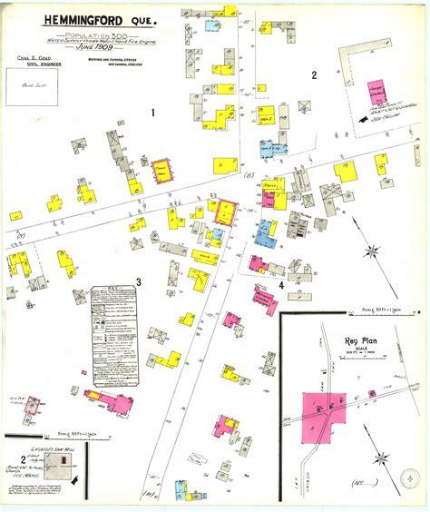 carte geographique detaillee du village de hemmingford