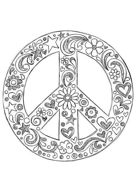 doodle peace sign simple and attractive free printable peace sign coloring
