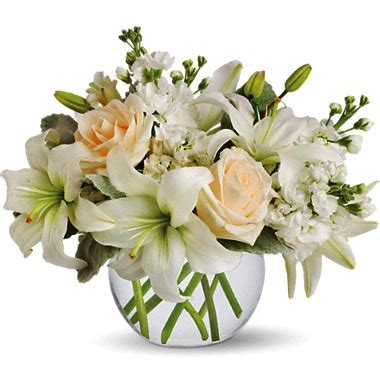 Isle of White Flowers Bouquet at 1 800 FLORALS Flower Delivery