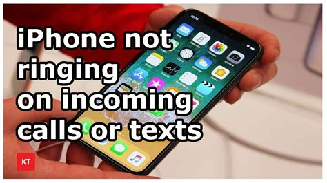 no ringtone for incoming call or text messages in iphone
