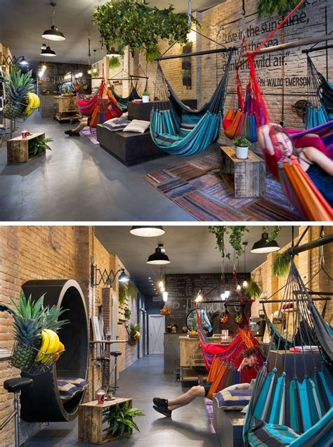 Hamac Bruxelles by This Juice Bar In Spain Is Filled With Hammocks Projet