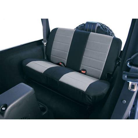 jeep wrangler replacement seat covers rugged ridge black gray neoprene rear seat cover 80 95 cj