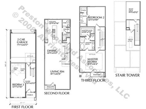 townhouse blueprints narrow townhouse floor plans modern townhouse floor plans