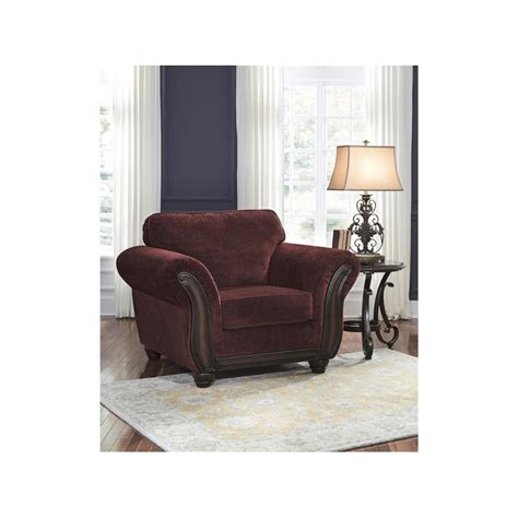 8810220 Ashley Furniture Chesterbrook Burgundy Chair Burgundy Accent Chairs Living Room
