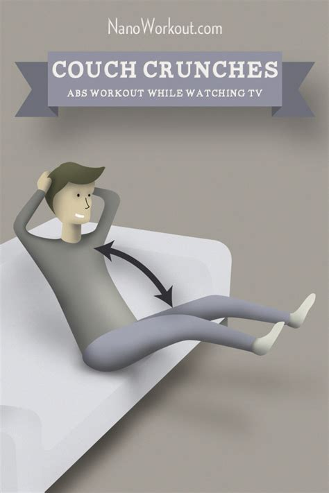 exercises to do on the couch couch crunches abs workout while watching tv