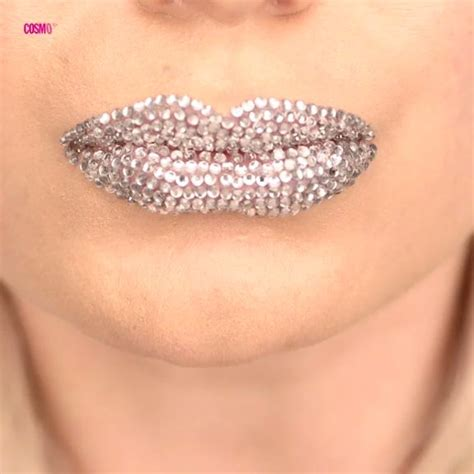 Bling Cat Lip add some sparkle to your smile with this gorgeous rhinestone studded lip look cosmo