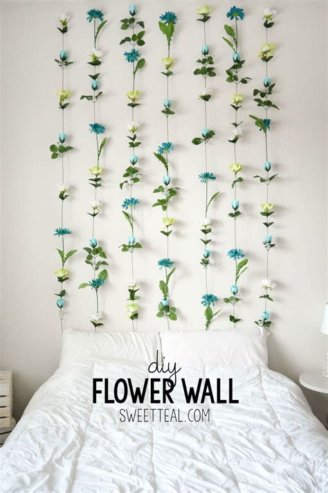 Diy Hanging Ls For Bedroom by Diy Flower Wall Headboard Home Decor