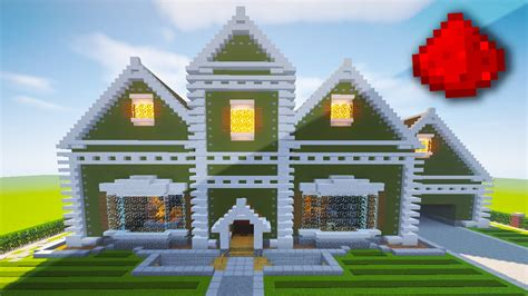 minecraft redstone house realistic redstone house traditional mansion minecraft project