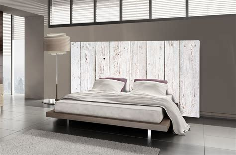 lit en bois de t 234 te de lit bois blanc motif lambris mds