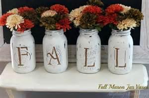 Make Your Own Flowers - 10 pretty fall mason jar crafts
