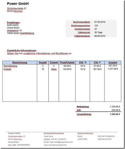 Kostenlose Vorlagen Word Kostenlose Rechnungsvorlage In Word Mit Anleitung