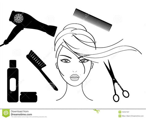 Friseur Clip Hairdressing Salon Royalty Free Stock Photography Image