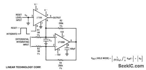 integrator circuit with reset integrator with programmable reset level basic circuit circuit diagram seekic