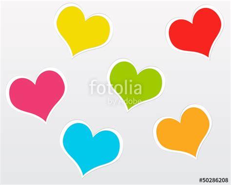 imagenes de zapatos con corazones quot postal con corazones de colores quot fotos de archivo e