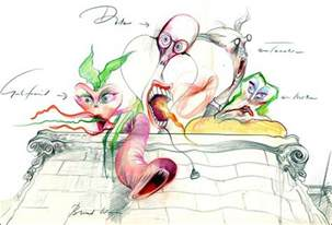 pink floyd wall drawing characters gerald scarfe