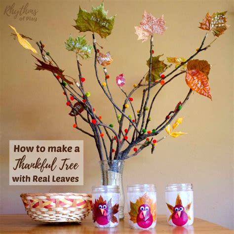 how to make a real tree how to make a thankful tree with real leaves rhythms of play