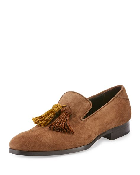 jimmy choo mens shoes jimmy choo foxley men s autumn suede tassel loafer shoes
