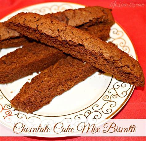 cake mix biscotti chocolate cake mix biscotti dessert recipes