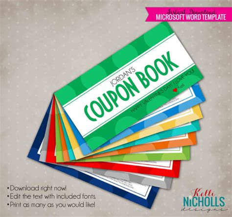 custom coupon book template 15 coupon book templates free sle exle format