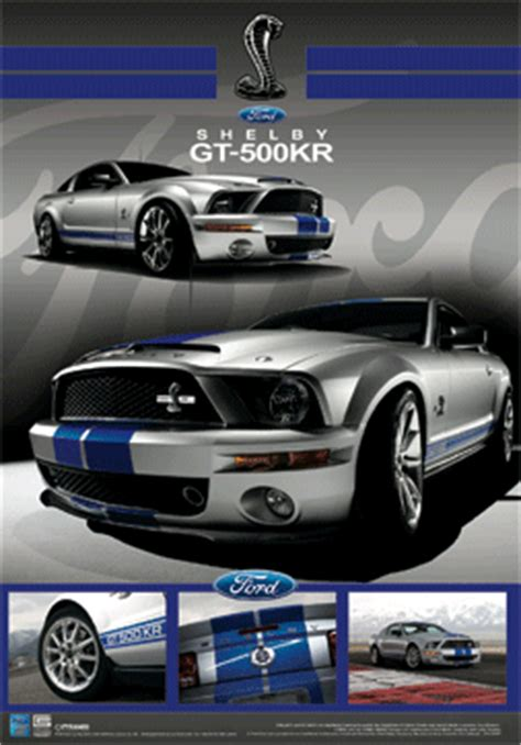 Mustang Auto Poster by Ford Schelby Mustang Gt 3d 3d Poster 3d Print Europosters