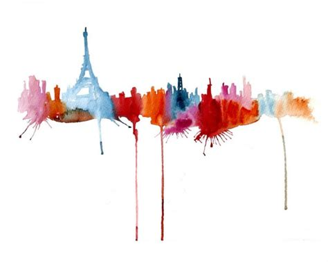 Home Decor Elephants by Abstract Silhouette Paintings Of Famous Cityscapes Wave