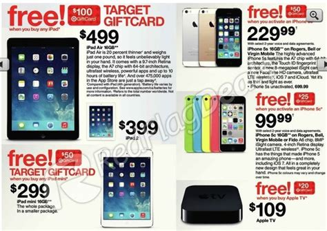 Target Gift Card Sale Black Friday - target black friday sale ipad air for 499 plus 100 gift card and more iphone in