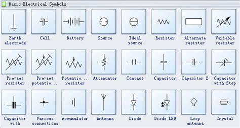 basic electrical diagram symbols basic free engine image