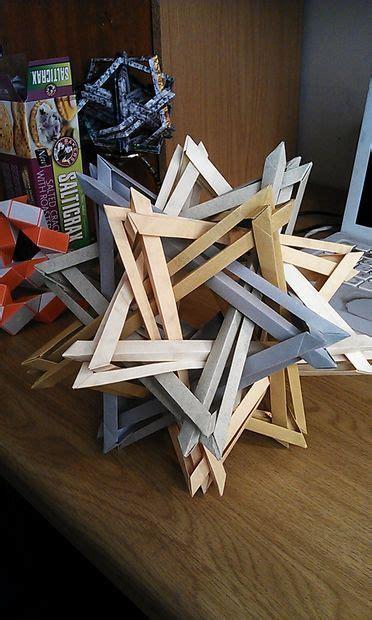 Complex Modular Origami - k2 complex modular origami sculpture no glue