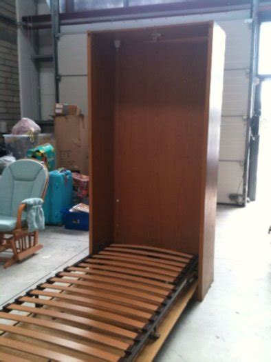 wall bedcloset fold up single bed in cabinet for sale in