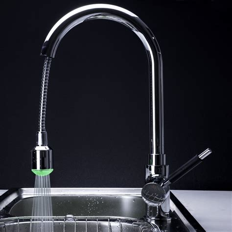 chrome led pull out kitchen sink faucet l 0352 wholesale