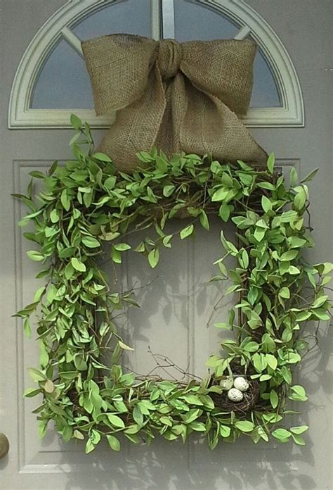 Square Wreaths For Front Door Square Wreath Boxwood Wreath Front Door Wreaths Wreaths Door