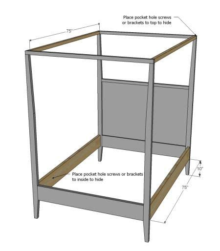 how to build a canopy bed 1000 ideas about size beds on storage
